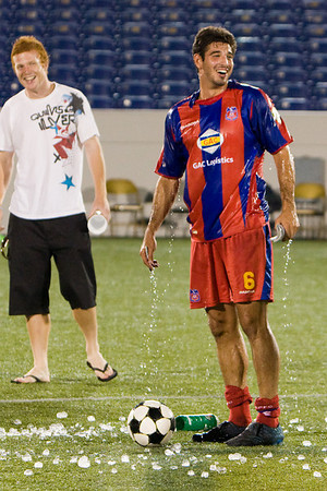 Rob Fucci is the unlucky victim of the Gatorade ice-water dump