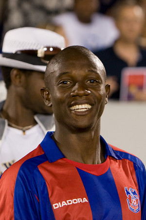 Matthew Mbuta celebrates the big win