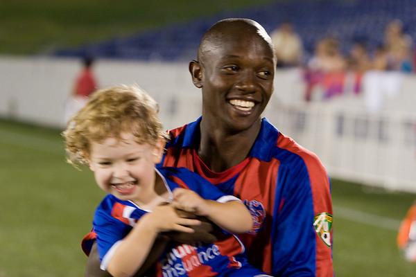 Cherneski Jr. celebrates with Matthew Mbuta