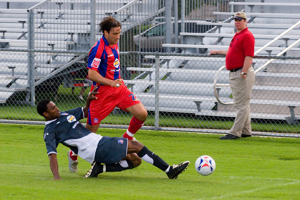 Marco Reich tackled by Palace USA.
