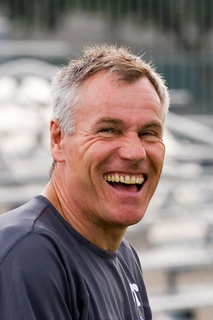 Palace's new manager, Peter Taylor, enjoying a joke before the game