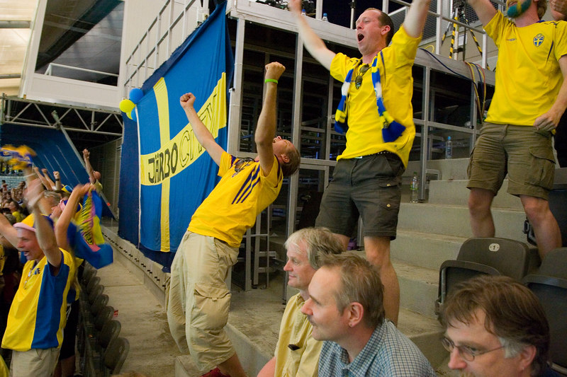 Sweden fans are over the moon.