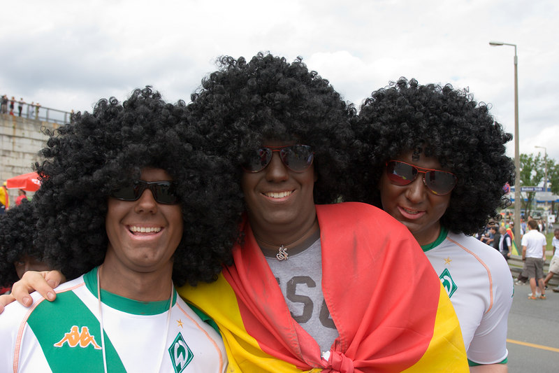 Ghana fans(?) at Nürnberg stadium before the match with the USA.