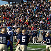 Record-Eagle/Keith King<br /> Fans applaud after the Traverse City St. Francis defense stopped Ishpeming on a fourth down and one yard situation near the end zone Saturday, November 12, 2011 at Thirlby Field in Traverse City.