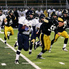 Record-Eagle/Keith King<br /> Gaylord's Josh Kates runs the ball against Traverse City Central Friday, October 14, 2011 at Thirlby Field in Traverse City.