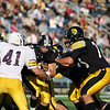 Record-Eagle/Keith King<br /> Traverse City Central's Ryan Verschuren runs the ball against Menominee Saturday, October 22, 2011 at Thirlby Field in Traverse City. Verschuren scored a touchdown on the play.