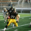 Record-Eagle/Keith King<br /> Traverse City Central's Ryan Verschuren runs the ball against Ogemaw Heights Friday, September 23, 2011 at Thirlby Field in Traverse City.