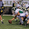 Record-Eagle/Jan-Michael Stump<br /> Traverse City West's offense lines up against Traverse City Central's defense during Friday's game.