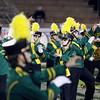 "Record-Eagle/Keith King<br /> The Traverse City West High School marching band performs Michael Jackson's ""Thriller"" at halftime of the Traverse City West football game against Ogemaw Heights Friday, October 12, 2012 at Thirlby Field in Traverse City."