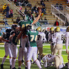 Record-Eagle/Keith King<br /> Traverse City West's Forrest Eagle celebrates with teammates after scoring a touchdown against Ogemaw Heights Friday, October 12, 2012 at Thirlby Field in Traverse City.
