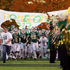Record-Eagle/Keith King<br /> The Traverse City West High School varsity football team runs onto the field prior to their game against Ogemaw Heights Friday, October 12, 2012 at Thirlby Field in Traverse City.