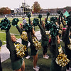 Record-Eagle/Keith King<br /> Traverse City West High School cheerleaders cheer as the Traverse City West football team competes against Ogemaw Heights Friday, October 12, 2012 at Thirlby Field in Traverse City.