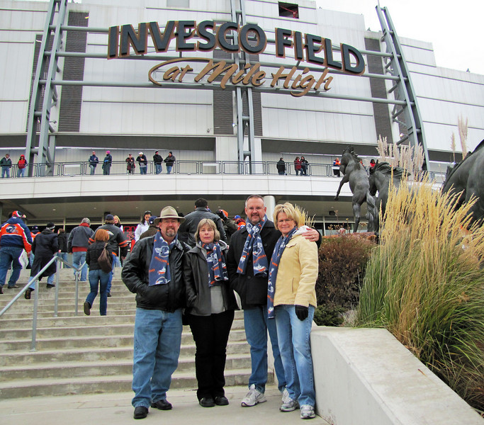 Invesco Field. Thanksgiving weekend, 2010. Myself, Anita and JT and Chele Thornton.