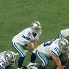 Dallas Cowboys QB Tony Romo just prior to the snap. Cowboys at Atlanta Falcons, November, 2012.