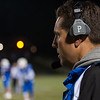Leominster HS head coach Dave Palazzi looks on during 1st quarter action against Wachusett. SENTINEL&ENTERPRISE/ Jim Marabello