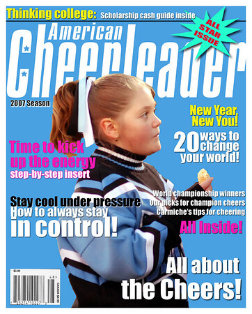 I do not have many cheerleader pictures, but as you see, any photo can be turned into a high-end collectible