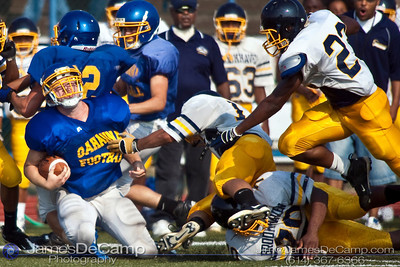 Gahanna's #2 Phillip Johnson runs the ball as Gahanna Lincoln High School scrimmages with Brookhaven High School Friday Morning August 14, 2009 at GHS. (©2009 James D. DeCamp | 614-367-6366 | http://www.JamesDeCamp.com)