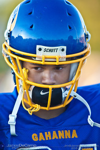 Gahanna High School #21 CJ Bryant during warm-ups before his teams game against Mason High School at Gahanna High School Friday night September 11, 2009. (©2009 James D. DeCamp | 614-367-6366 | http://www.JamesDeCamp.com)