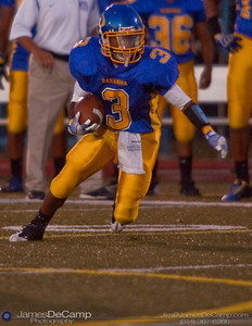 Gahanna High School #3 Rashawn Ponder runs the ball in the first quarter of play against Mason High School at Gahanna High School Friday night September 11, 2009. (©2009 James D. DeCamp | 614-367-6366 | http://www.JamesDeCamp.com)