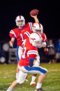 Thomas Worthington High School's John Chadwell looks to pass in the second period of play against Hilliard Davidson High School at Thomas Worthington High School Friday night September 24, 2010. (©2010 James D. DeCamp • 614-367-6366) http://www.JamesDeCamp.com