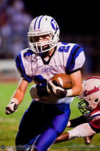 Hilliard Davidson High School's Nick Waters make a run in the second quarter of play at Thomas Worthington High School Friday night September 24, 2010. (©2010 James D. DeCamp • 614-367-6366) http://www.JamesDeCamp.com