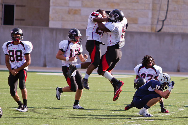 "Game: Langham Creek Lobos vs Cy-Ranch Mustangs at Berry Center on Saturday, November 5, 2011<br /> <br /> Photo by Greg Vaughn.  Available at <a href=""http://www.gregvphotography.com"">http://www.gregvphotography.com</a>"