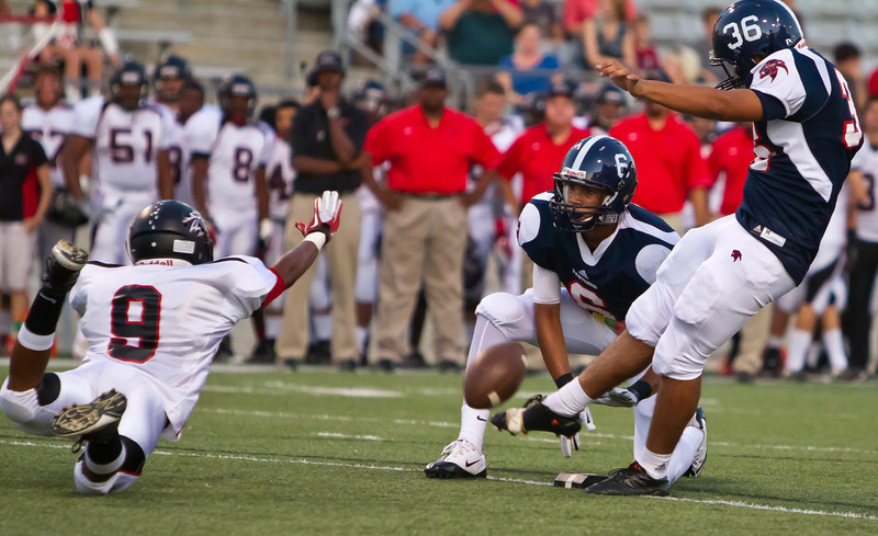 """Game: Langham Creek Lobos vs Cypress Springs Panthers at Berry Center on Friday, September 23, 2011<br /> <br /> Photo by Greg Vaughn.  Available at <a href=""""http://www.gregvphotography.com"""">http://www.gregvphotography.com</a>"""
