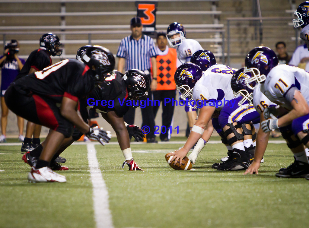 """Game: Langham Creek Lobos vs Jersey Village Falcons at Berry Center on Thursday, September 15, 2011<br /> <br /> Photo by Greg Vaughn.  Available at <a href=""""http://www.gregvphotography.com"""">http://www.gregvphotography.com</a>"""