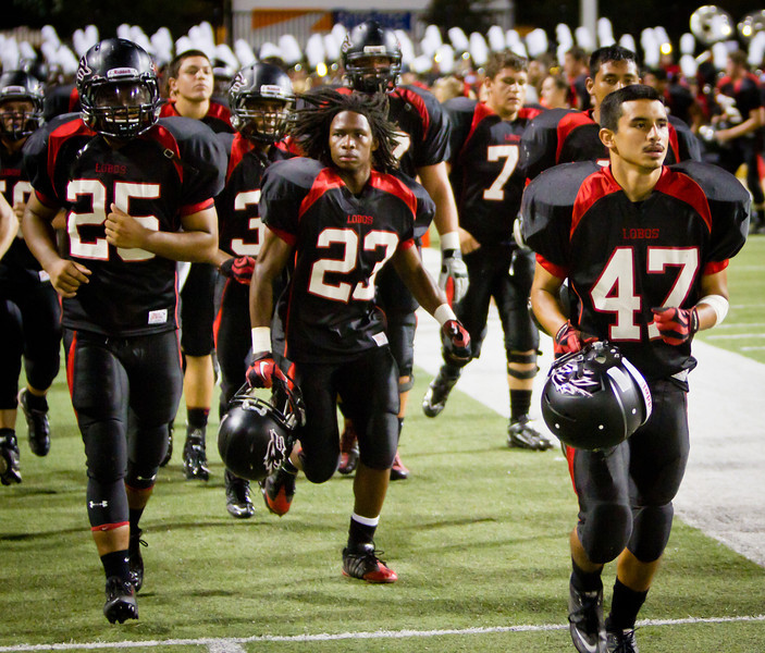 "Game: Langham Creek Lobos vs Stratford Spartans at Berry Center on Thursday, September 1, 2011<br /> <br /> Photo by Greg Vaughn.  Available at <a href=""http://www.gregvphotography.com"">http://www.gregvphotography.com</a>"