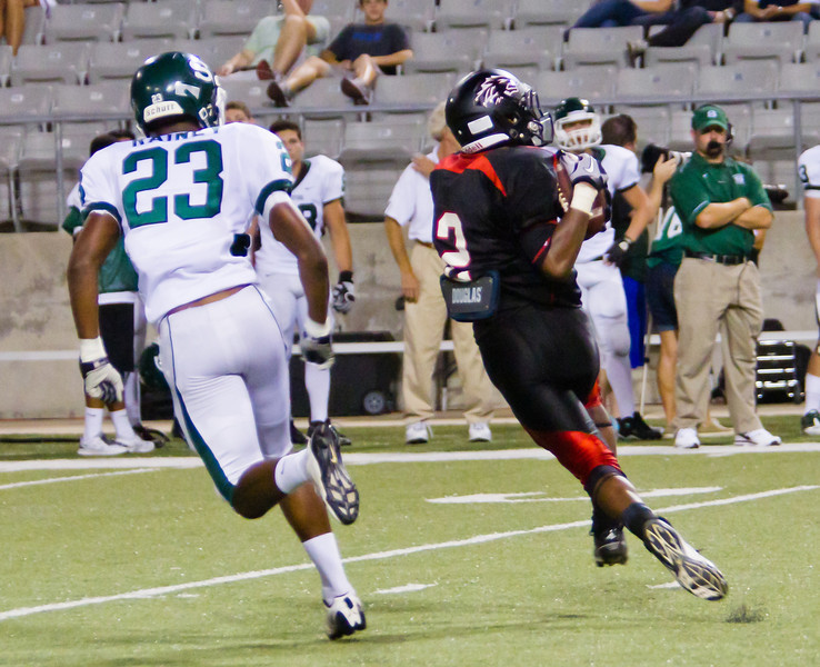 "WR Caleb Hobbs pulls in another pass to move the Langham Creek Lobos down the field again.<br /> <br /> Game: Langham Creek Lobos vs Stratford Spartans at Berry Center on Thursday, September 1, 2011<br /> <br /> Photo by Greg Vaughn.  Available at <a href=""http://www.gregvphotography.com"">http://www.gregvphotography.com</a>"