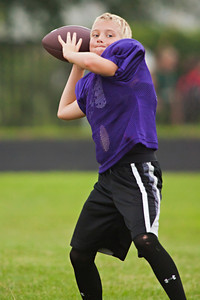 Reynoldsburg Junior Raiders practice at the Baldwin Road Junior High School football field Monday evening August 1, 2011. (©2011 James D. DeCamp   614-367-6366   http://www.JamesDeCamp.com)
