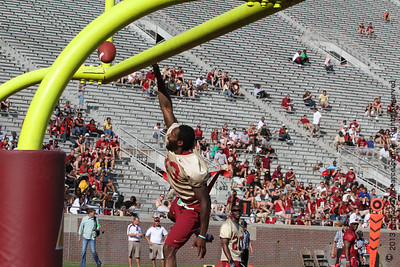 And, slam!  There it goes.  Antonio Cromartie (NY Jets) with the celebration dunk over the goal post.   Don't miss new photos.  Get notifications via: