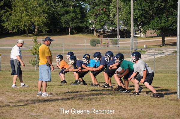 Football Practice and Team Pictures