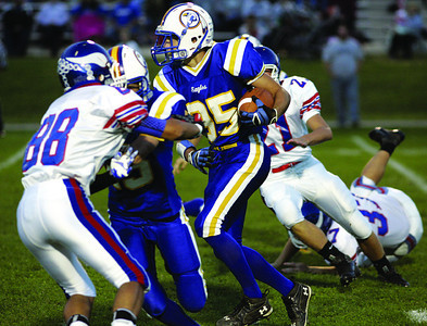 Line Mountain's Jeremy Renn returns a kickoff against Williams Valley on Saturday in Mandata.