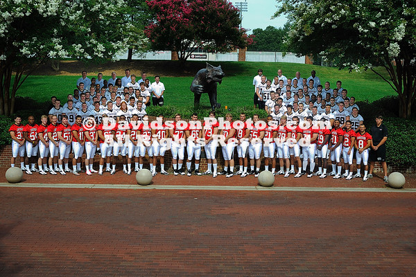 09 August 2012: Davidson football poses for team and head shots at Smith Field at Richardson Stadium  in Davidson, North Carolina.