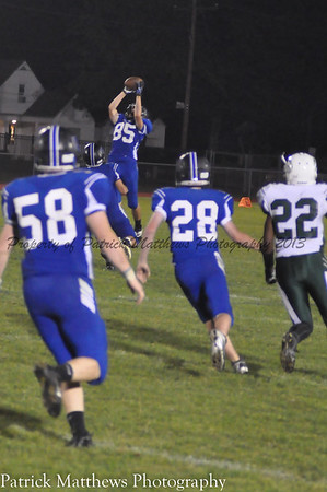 Kevin Bielawski intercepts a Weaver pass.