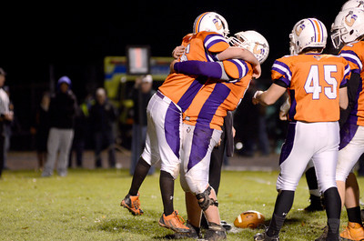 Danville teammates celebrate the go ahead score in Friday's win over Loyalsock.