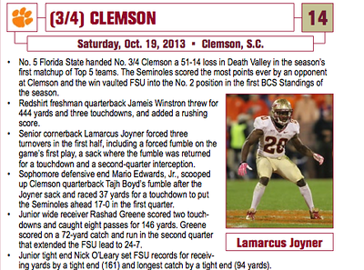From the Clemson vs FSU gallery.