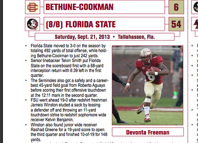 From the Bethune Cookman vs FSU gallery.