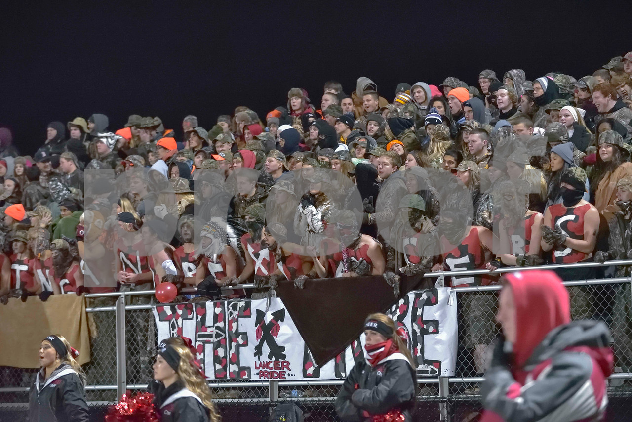 The Linganore Duck Dynasty student cheering section.