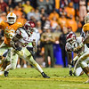 Arkansas Razorbacks running back Alex Collins (3) rushed for 154 yards during a football game between the Arkansas Razorbacks and the Tennessee Volunteers at Neyland Stadium in Knoxville, Tennesee.     Arkansas won 24-20.  (Alan Jamison, Nate Allen Sports Service)