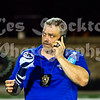 Steve Roper on the phone with league officials regarding the situation.  The Thunder were suited up and ready to continue the game.  The home team had sent most of their players home, confident that they would not have to play the rest of the game this evening.