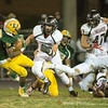 Markus Vinson of Damascus about to be clobbered for a loss by