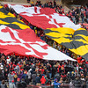The Terps home fan section spread out the state flag.