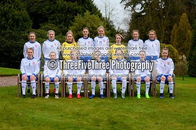 England U15 Girls Team Photoshoot