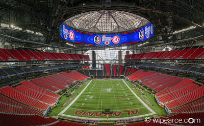 Mercedes Benz Stadium.  Atlanta Falcons.  Atlanta, GA