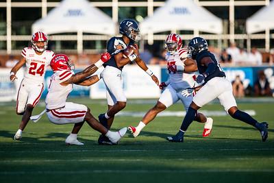 Louisiana linebacker #2. Lorenzo McCaskill sacks Georgia Southern Quarterback #17 Justin Tomlin.                           [Photo by Hunter D. Cone for The Advocate]