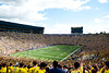 Sep 8, 2012; Ann Arbor, MI, USA; A general view during the first quarter between the Michigan Wolverines and the Air Force Falcons at Michigan Stadium. Mandatory Credit: Tim Fuller-Air Force Academy Athletics