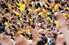 Sep 8, 2012; Ann Arbor, MI, USA;  Fans at the game between the Michigan Wolverines and the Air Force Falcons at Michigan Stadium. Mandatory Credit: Tim Fuller-Air Force Academy Athletics