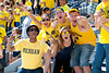 Sep 8, 2012; Ann Arbor, MI, USA; Michigan Wolverines fans during the game against the Air Force Falcons at Michigan Stadium. Mandatory Credit: Tim Fuller-Air Force Academy Athletics